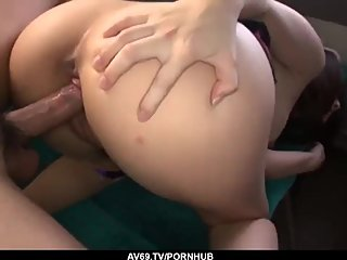 Appealing college babe Chinatsu Kurusu fucked in the bu - More at 69avs com
