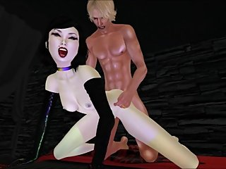 SESSION 76 - SWINGER HUSBAND FUCKS GOTH JAPANESE FETISH GIRL