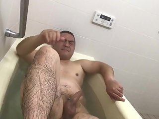 Daddy asian Japanese bath