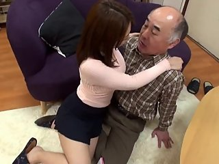 father in law fucks the Japanese wife