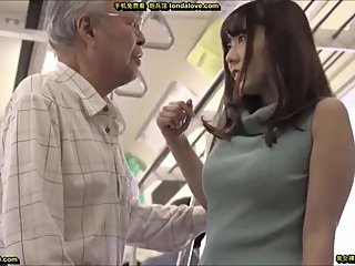 Yui Hatano and old man encounters on a train