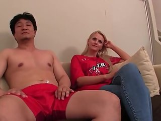 Hungarian babe picked up in Budapest by Japanese guys