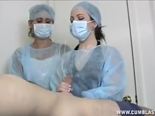 Hospital nurser with threesome fucking nurses big tits suck my dick