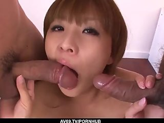 Rinka Aiuchi deals the cocks like she?s a goddess - More at 69avs com