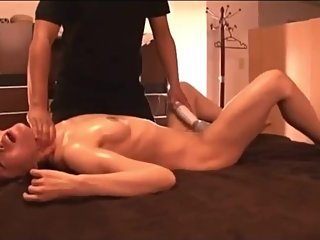 Japanese woman strangled and Squirting