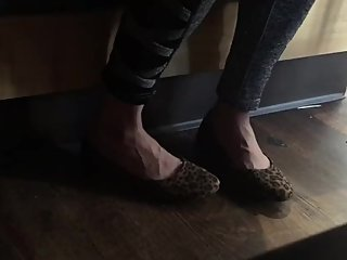Candid Flats Shoeplay @ iHop With My Japanese Girlfriend Part 1