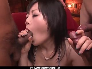 Hikaru Kirameki sensational cock sucking in group XXX - More at Slurpjp com