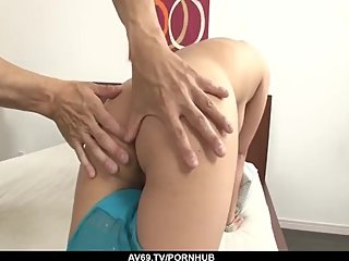 Konatsu Aozona shakes cock in each of her tight holes - More at 69avs com
