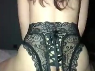 Curvy wife sexy lingerie reverse cowboy