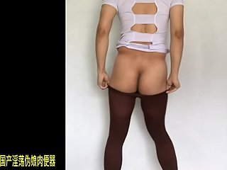 Chinese Crossdresser Sexy Dance In Nurse Suit , Pantyhorse