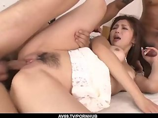 Serious group sex along Japanese babe Mai Kuroki - More at 69avs com