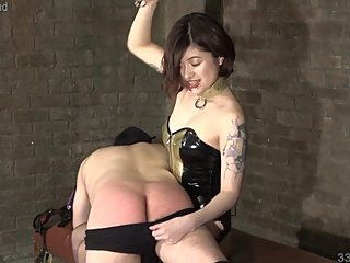 Japanese Femdom Sherry Spanking and CBT