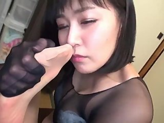 Japanese pantyhose smell sniffing edit