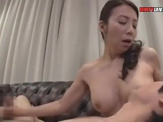 son cums on his stepmother's mouth