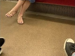 Japanese candid feet