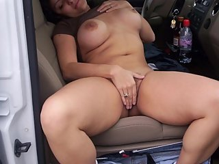 Outdoor Risky Public Sex In Car Wih Wife Friend