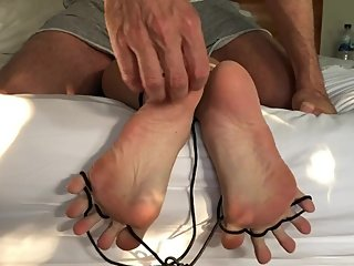He tickle my soles