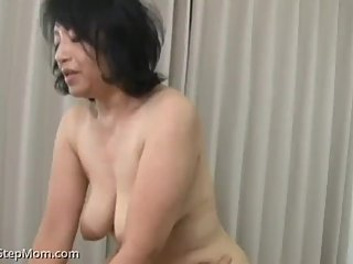 Japanese Step Mom Tries But Fails to Stop the Desires of Her Step Son