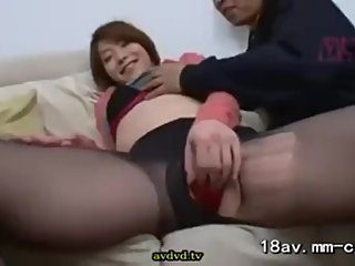 Japanese Babe Banged On Couch