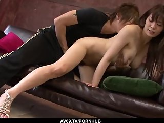Karen Natsuhara goes full mode in a Japanese dick - More at 69avs com