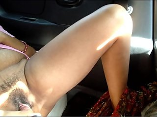 Step Mom Outdoor Risky Public Pissing And Dildo Fucking With Squirt In Car
