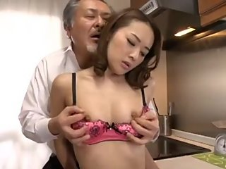 Japanese Daddy has sex with woman