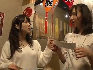 japanese girls fuck for money in the drink bar house