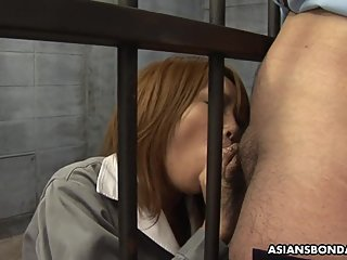 Japanese fuck doll, Rio Haruna is eagerly sucking dick, uncensored