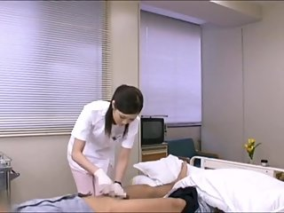 Japanese nurse handjob with surgical glove 2
