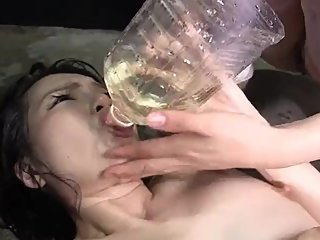 Asian Lesbian Exchange theirs Yellow Piss with Each Other