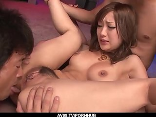 Serious group sex in Japanese porn with Aika - More at 69avs com