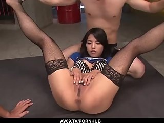 Hot Eririka Katagiri drives whole cock in her tiny - More at 69avs com