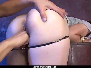 Mami Yuuki goes wild with the Asian cock in her as - More at 69avs com