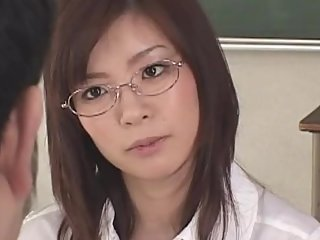 Nao Mizuki Japanese Young Babe Teacher School Sex W-Blowjob Threesome